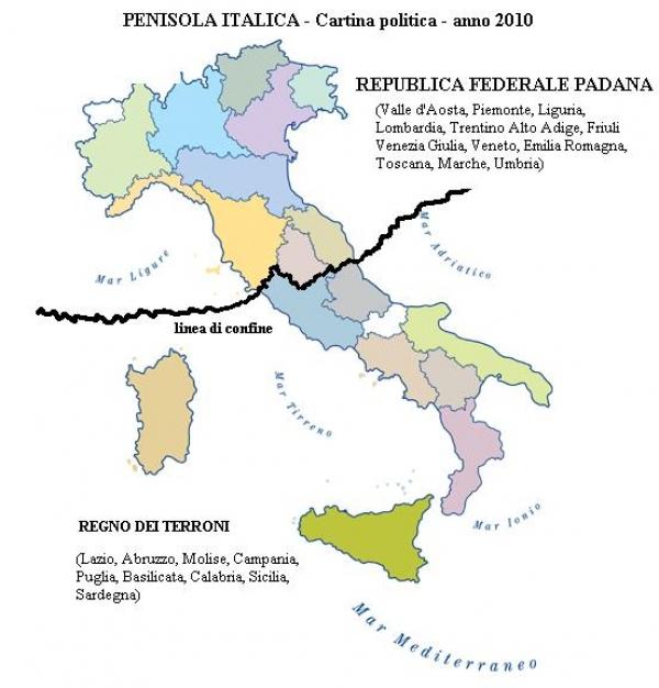 La Padania non esiste!